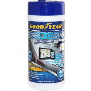 Good Year Screen Cleans Anti Smear Interior & Exterior XL Wipes - Fresh Lemon Scent - Pack of 40