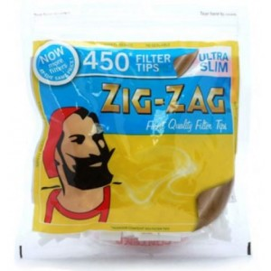 Zig Zag Resealable Ultra Slim Finest Quality Filter Tips - Pack Of 450