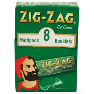 Zig Zag Finest Quality Rolling Papers Multi Pack - 8 Booklets