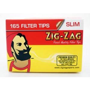 Zig Zag Slim Filter Tips - Box Of 165