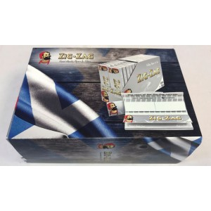 Zig Zag Silver Connoisseur Slim Rolling Papers & Tips - 32 Booklets + Tips