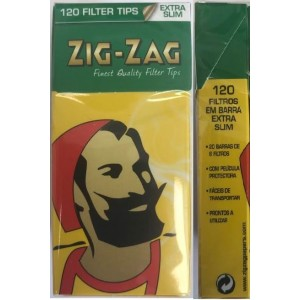 Zig Zag Finest Quality Pre-Cut Extra Slim Filter Tips - Box Of 120