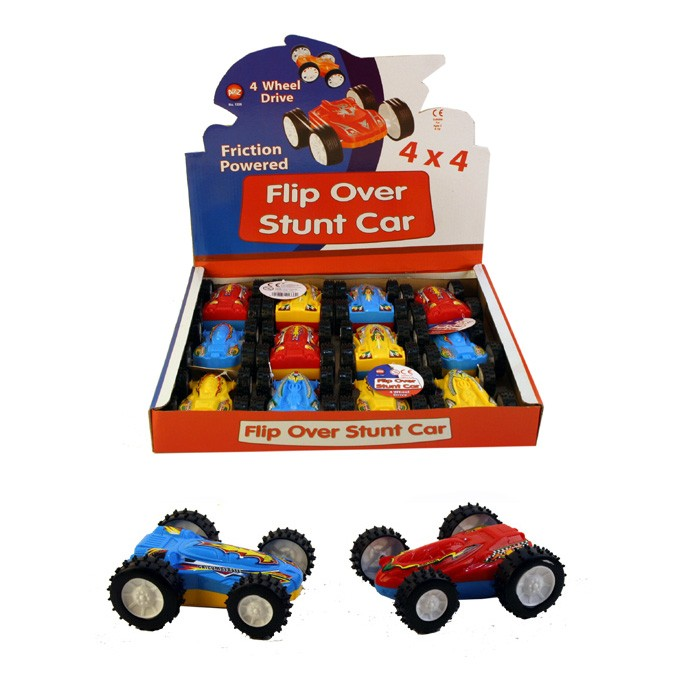 Toy Cars That Flip Over : Wholesale friction powered flip over toy stunt car uk