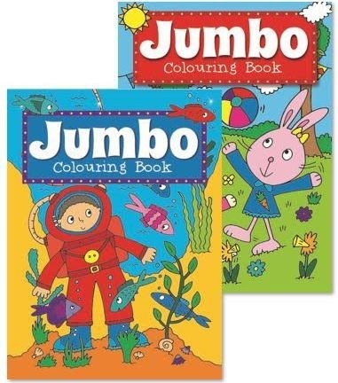 Jumbo Colouring Book Assorted Designs 27 X 19 5cm 0 Vat