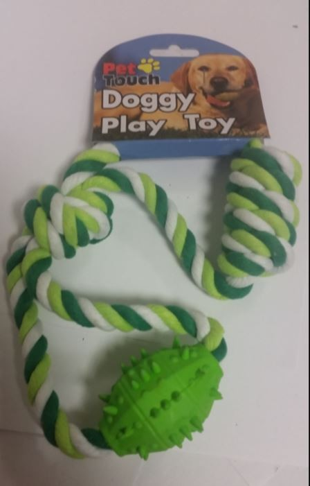 Wholesale Plated Rope With Rubber Toy For Pet Dogs Uk