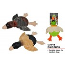 Pets That Play Fetch & Retrieve Squeaky Flat Duck Dog Toy - For Medium / Large Dogs - Assorted Shapes