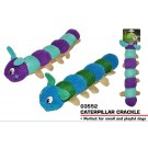 Pets That Play Caterpillar Crackle Multi-Squeaker Dog Toy - For Medium / Large Dogs - Assorted Colours