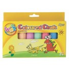 Woomz Coloured Chalks - 10.5 x 2cm - Assorted Colours - Pack of 8
