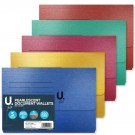 U File Pearlescent Document Wallets - 35 x 24.5cm - Pack of 5 - 5 Assorted Colours