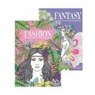 Fashion & Fantasy - Anti-Stress Colouring Book - 24 Pages of Fun