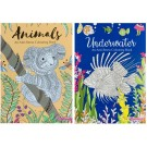 Animals & Underwater - Anti-Stress Colouring Book - 24 Pages of Fun
