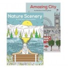 Nature Scenery & Amazing City - Anti-Stress Colouring Book - 24 Pages of Fun