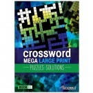 Cross Word Mega Large Print Puzzles + Solutions - Book 01 & 02 - 44 Pages of Fun