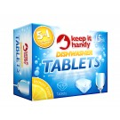 3 In 1 Cleaning Action Dishwasher Tablets - Lemon Fresh - Pack Of 12