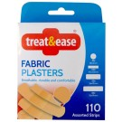 Treat & Ease Fabric Plasters - Assorted Strips - Pack Of 110