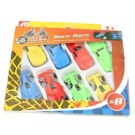 Red Deer Toys Speed Station Race Cars - Assorted Styles & Colours - Pack of 8 - 18.5 x 17 x 2cm