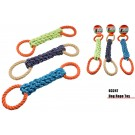 Plated Dog Rope Toy With 2 Loops - Colours May Vary