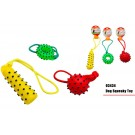 Pet Buddies Squeaky Doggy Play Toy With Rope - Shapes Vary