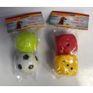 Pet Buddies Squeaky Doggy Play Toys - Pack of 2 - Shapes Vary