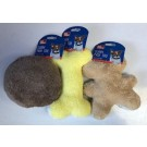 Pet Touch Soft Squeaky Plush Dog Toy - Shapes and Colours Vary