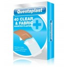 Questaplast Clear & Fabric Plasters - Assorted Plasters - Pack of 40