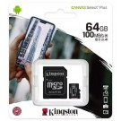 Kingston 64GB Micro SD Card/Memory Card with Adapter - Class 10 - SDCS2/64GB