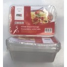 Max Disposable Food Storage Containers with Lids - 650ml - 17.5 x 11.5 x 5cm - Pack of 5