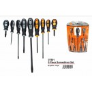 JAK Comfort Grip Screw Driver Set - Pack of 9 - Assorted Colour, Size and Shape