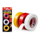 Dekton PVC Self Fusing Adhesive Tape for Extra Strength - Assorted Colours - 13M - Pack of 3