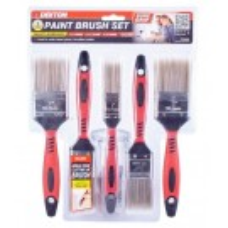 Dekton Super Grip Multi-Surface Paint Brush Set - Pack of 5