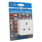 European Travel Adaptor Uk To Europe 10A - 240V - Carded