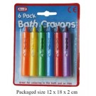 Baths Crayons - Assorted Colours - Pack of 6