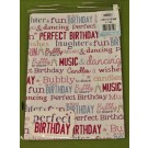 Little Thoughts Perfect Birthday Gift Wrapping Papers & Tags - Pack of 2 - 50cm X 69.5cm