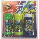 HGL Bubble Gun Refills with Bubble Wand - Pack of 3 - 2 oz