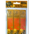 BULL BRAND NEW PURE ORGANIC HEMP KING SIZE SLIM CIGARETTE PAPERS - PACK OF 3