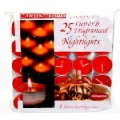 Carlingford Superb Quality Night Light Candles - Cinnamon - Pack of 25