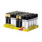 Clipper Classic Large Reusable Lighters - Black/Gold & White/Black - Assorted Colours & Designs