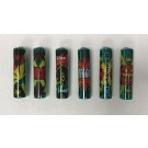 Clipper Classic Large Reusable Lighters - Green Leaves Pattern - Assorted Colours & Designs