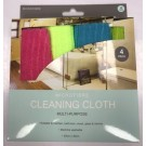 Multipurpose Micro Fibre Cleaning Cloth - Pack of 4 - Assorted Colours