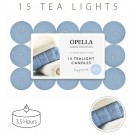 Opella Fragranced/Scented Tea Lights / Candles - Cotton Breeze - Pack Of 15