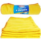 Keep it Handy Thick & Soft Dusters - Yellow - Pack of 4 - 50 x 40cm