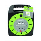 Pifco 4 Way Cassette Reel Extension Lead - 25 Metres
