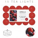 Opella Fragranced/Scented Tea Lights / Candles - Fresh Berries - Pack Of 15