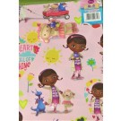 Doc McStuffins Gift Wrapping Papers & Tags - Pack of 2 - 50cm X 69.5cm