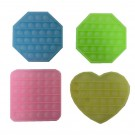 Glow in the Dark Push Bubble Pop It Fidget Sensory Popper Toy - Shapes/Colours May Vary - 16 x 13cm approx.
