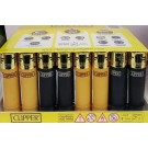 Electronic Clipper Lighter With Gold Caps - Assorted Colours - Black And Gold - Pack Of 40