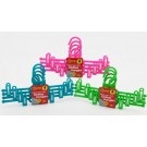 Deluxe Heavy Duty Plastic Clothes Hangers With Sliding Clips - Pack Of 4 - Colours May Vary