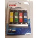 QUALITY SIGMA INDEX DISPENSER - ASSORTED COLOURED STICKERS
