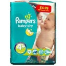 Pampers Baby Dry Maxi Plus Size 4 - Pack of 18 - 0% VAT - Price Marked £4.99