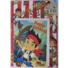 Jake and the Never Land Pirates Birthday Gift Wrapping Sheet, Card & Tag - 50cm X 70cm